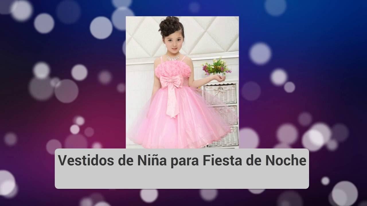 Vestidos de Niña para Fiesta de Noche - YouTube