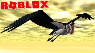 "Wild Savannah (Roblox)-hunting bird, terrestrial menace ""Marabou Stork""-(#8) (Gameplay EN-BR)"