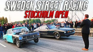 Street Racing in front of POLICE | Stockholm Open MOVIE