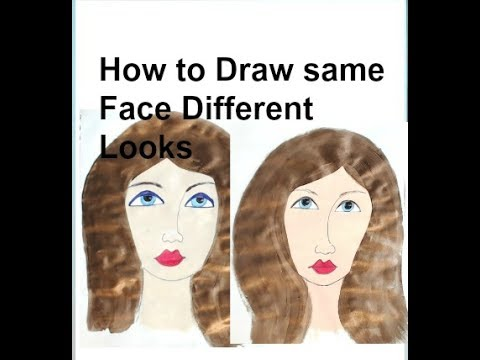 How to Draw same folk art Face Different Looks