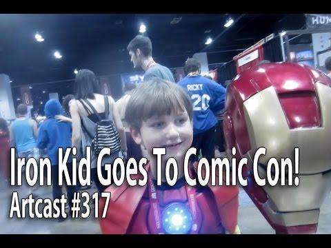 Iron Kid Goes To Comic Con!  (DIY) Foam Iron Man Helmet