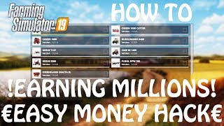 EASY MONEY HACK for PS4 & XBOX ONE in Farming Simulator 2019 | CONSOLE MONEY MOD | HOW TO EARN