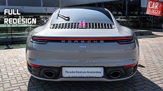 inside the new porsche 911 992 carrera 4s 2019 interior exterior details w revs