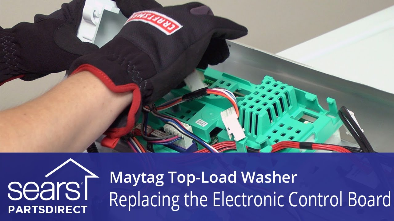 Maytag Washer Board Diagram Explained Wiring Diagrams Appliance Mah4000aww Information Series 45 How To Replace The Electronic Control On A Vertical Washing Machine