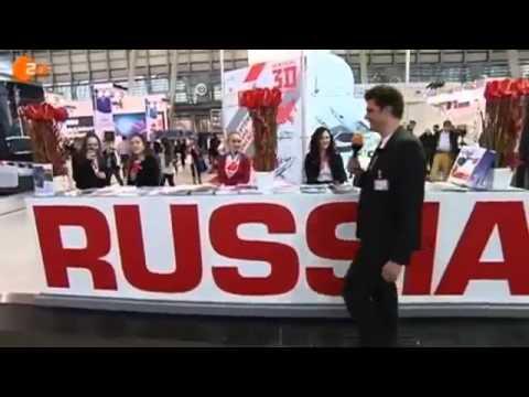 Lutz van der Horst auf der Russen-Messe