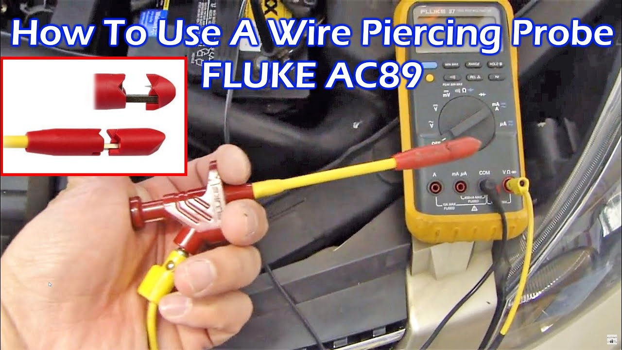 Auto Install How To Use Piercing Probe Check Automotive Wires Wiring Supplies With Mulitimeter