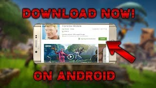 FORTNITE ON ANDROID GOOGLE PLAY STORE DOWNLOAD FORTNITE MOBILE ON ANDROID!!