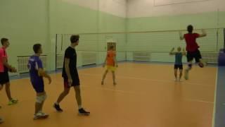 Обучение волейболу. Упражнения на отработку нападающего удара и блока. Продолжение