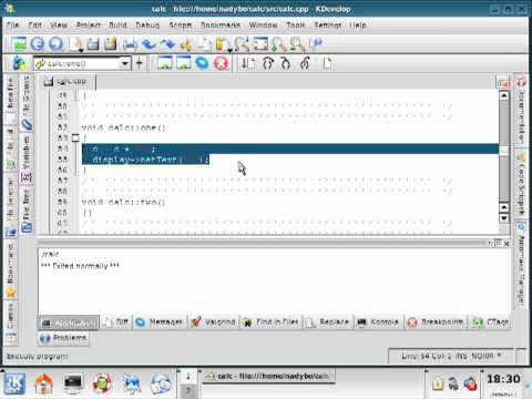 12- KDEvelop Part 2 - Linking Number Buttons