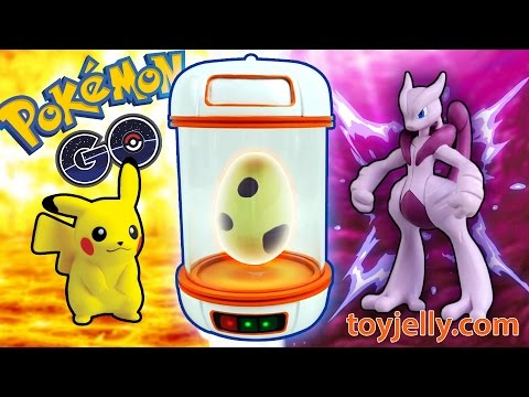 Pokemon Go Incubator Surprise Toys, Hatching 5 Slime Clay Monster Eggs, Pikachu, Mewtwo