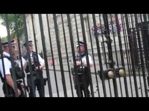 Walk along Whitehall to Downing Street in London
