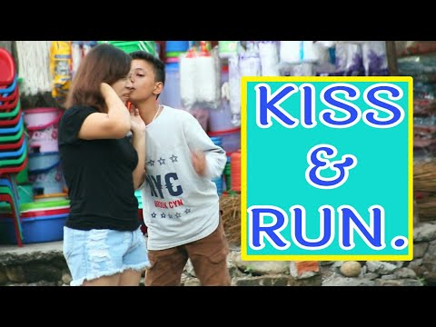 14 Years Old | Kiss and Run | Nepali Prank | Laugh Out Loud Nepal