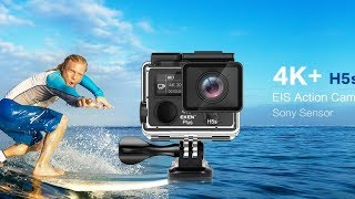 Video EKEN H6s Unboxing and Review  Best $100 Action Camera Go Pro Killer 2018 download MP3, 3GP, MP4, WEBM, AVI, FLV Juli 2018