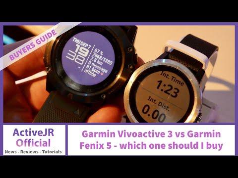 Garmin Vivoactive 3 Vs Garmin Fenix 5 - Which GPS Fitness Watch Should I Buy?