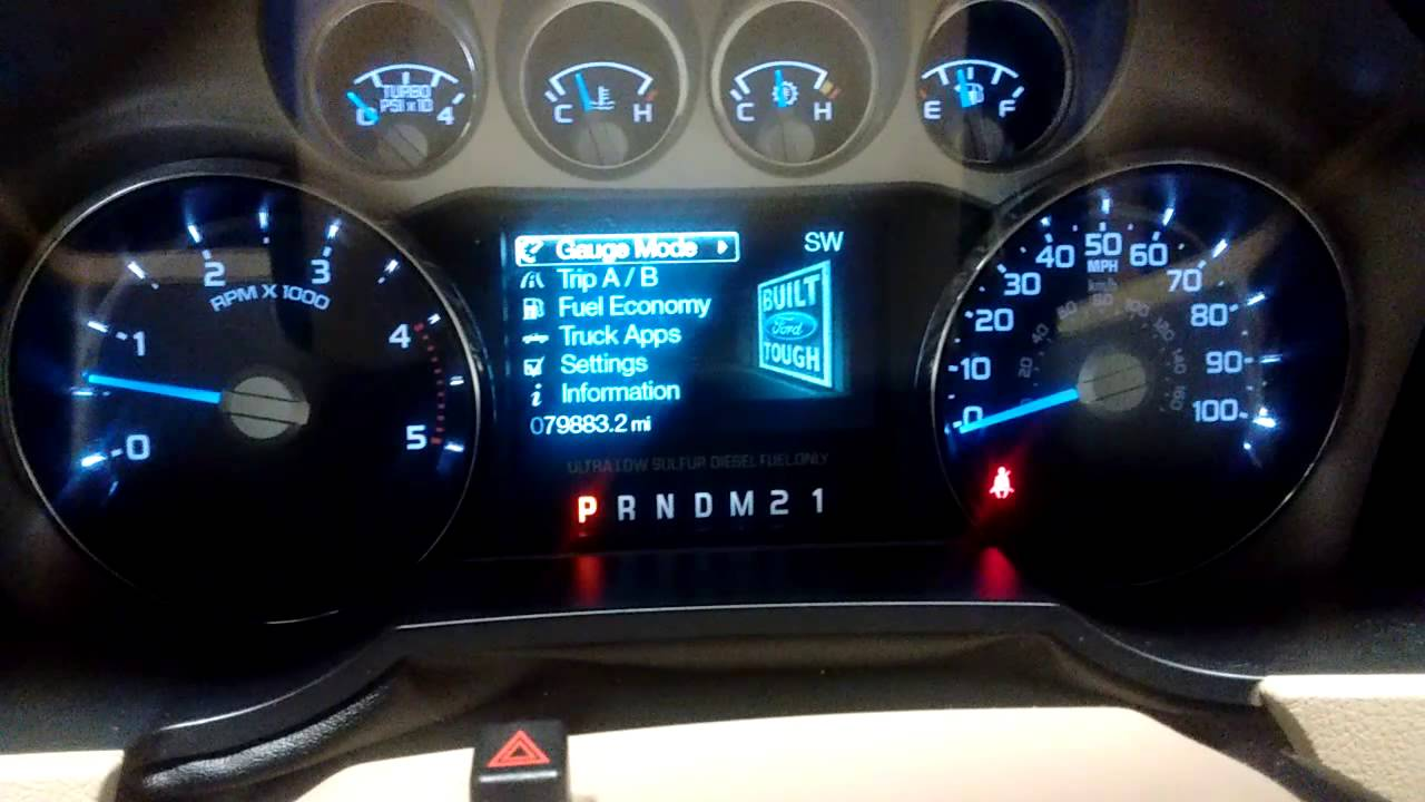 2011 ford f350 oil life reset
