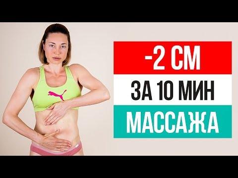 Массаж для живота для похудения видео уроки