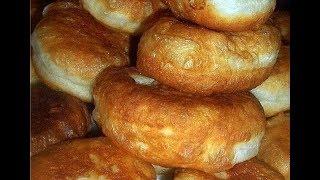 Пирожки жареные с яйцом ,рисом и зеленым луком)Жареные пирожки