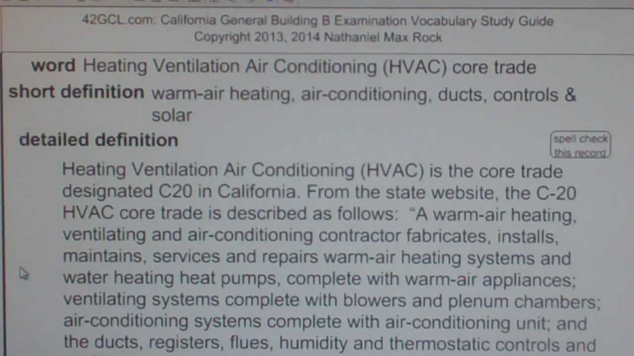 Heating Ventilation Air Conditioning (HVAC) core trade