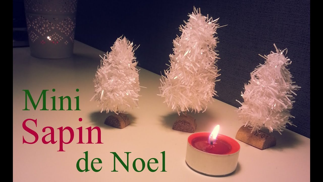 Cr ation d i y sapins miniatures d coration table de noel - Sapin de noel decoration blanc ...