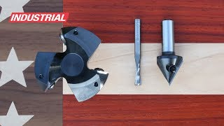 How To Make an American Flag in Wood using Amana Tool CNC Router Bits, Saw Blades and VCarve Pro