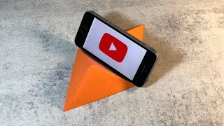 Подставка под телефон из бумаги. Delivery under the phone out of paper. Origami DIY.