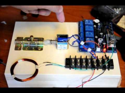 E Z Rfid Door Locking System Prototype With Solenoid Youtube