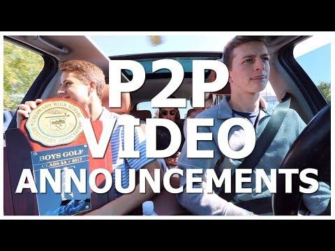 P2P VIDEO ANNOUNCEMENTS 10/6/17