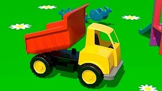 Kid's 3d Construction 1: Build A Haul Truck Demo & Learn To Count Lessons [건설, 자동차, 트랙터, 시멘트 트럭