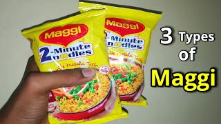 3 Types of Maggi Noodles Recipe