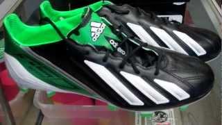adidas f50 adizero micoach leather black running white green zest