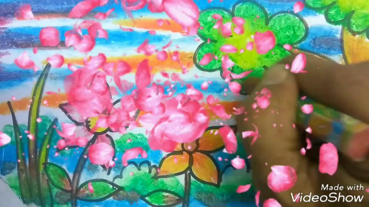 Mewarnai gradasi dengan crayon 12 warna bagus lho