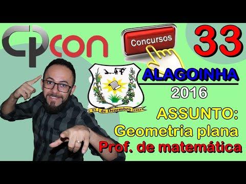 CPCON 2016 | ALAGOINHA | Q.33 | PROF MATEMÁTICA (GEOMETRIA PLANA)