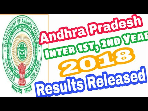 AP Intermediate 1st & 2nd year Results 2018 Released| Andhra pradesh inter results 2018|