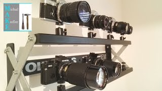 Industrial design shelf for my vintage cameras COLLECTION