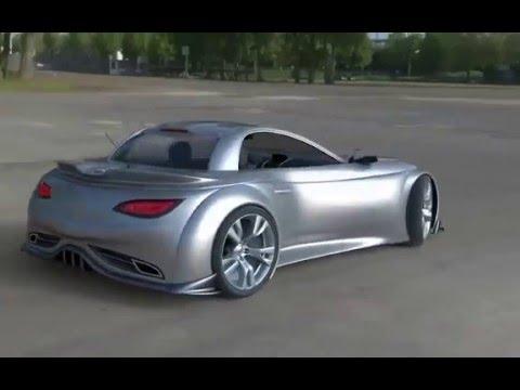 Lightning roadster electric car - design by Damnjan Mitic