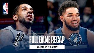 Full Game Recap: Spurs vs Timberwolves | LaMarcus Aldridge Leads All Scorers