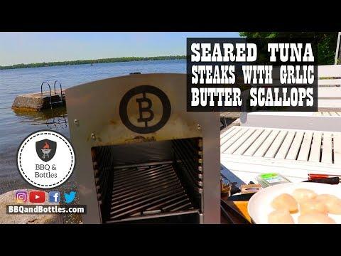 Seared Tuna Steaks with Garlic Butter Scallops