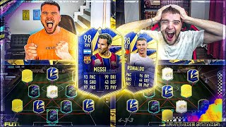 FIFA 21: TOTY MESSI vs TOTY RONALDO SQUAD BUILDER BATTLE 😱😱