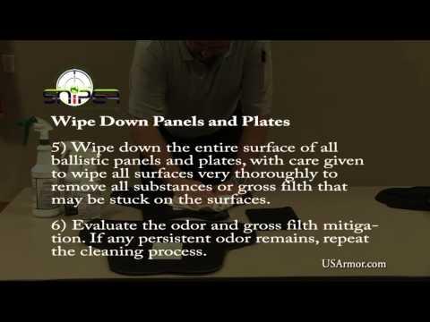 HOW TO clean ballistic body armor (U.S. Armor)