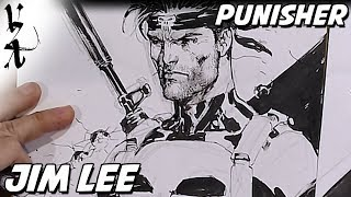 Jim Lee drawing The Punisher