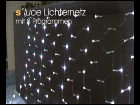 s luce led lichternetz mit 8 programmen von licht design skapetze youtube. Black Bedroom Furniture Sets. Home Design Ideas