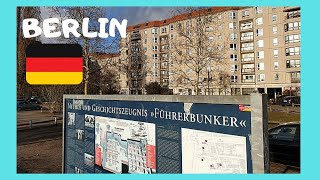 BERLIN, the exact location of HITLER'S BUNKER in 1945 (Germany)
