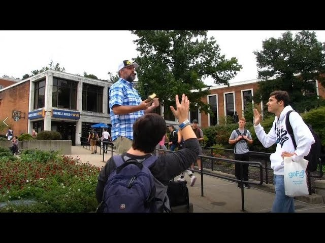 Some HUMBLE HEARERS at West Virginia University - Open Air Preaching - Kerrigan Skelly