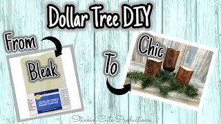 From BLEAK to CHIC Dollar Tree Diy