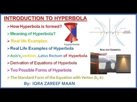 Hyperbola || Real life examples of hyperbola || Equation ...