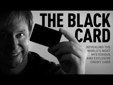 The Black Card — First Look At The New Amex Centurion Card (Unboxing)