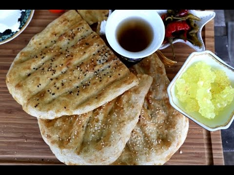 Homemade Iranian Barbari نان بربری Flat Bread Recipe - Heghineh.com
