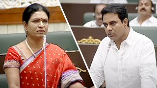 KTR , DK Aruna conflict ends with apology