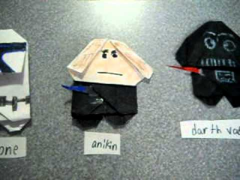 How To Make A Origami Star Wars Characters
