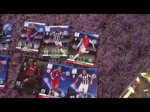 Karty Champions League otwieranie blisterka